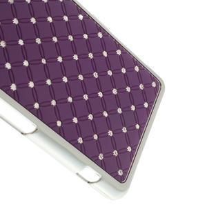 Drahokamové pouzdro na Sony Xperia Z1 Compact D5503- fialové - 4