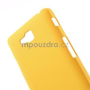 Pogumované  pouzdro pro LG Optimus L9 II D605- žluté - 4