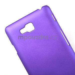 Pogumované  pouzdro pro LG Optimus L9 II D605- fialové - 4