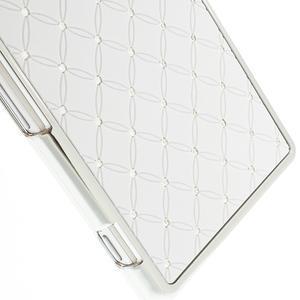 Drahokamové pouzdro na Sony Xperia Z2 D6503- bílé - 4