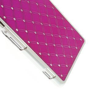 Drahokamové pouzdro na Sony Xperia Z2 D6503- růžové - 4