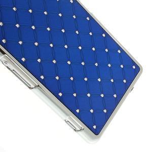 Drahokamové pouzdro na Sony Xperia Z2 D6503- modré - 4