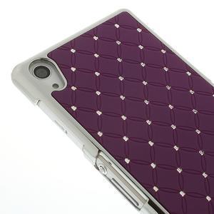 Drahokamové pouzdro na Sony Xperia Z2 D6503- fialové - 4