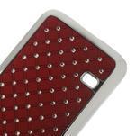Drahokamové pouzdro na Samsung Galaxy S5 mini G-800- červené - 4/5