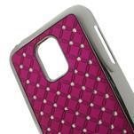 Drahokamové pouzdro na Samsung Galaxy S5 mini G-800- růžové - 4/5