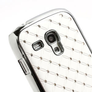 Drahokamové pouzdro pro Samsung Galaxy S3 mini i8190- bílé - 4