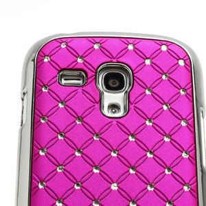 Drahokamové pouzdro pro Samsung Galaxy S3 mini i8190- růžové - 4