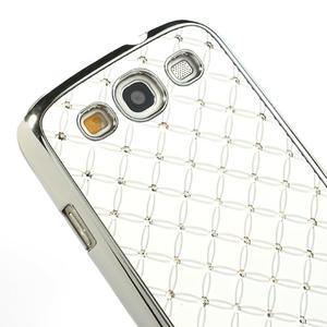Drahokamové pouzdro pro Samsung Galaxy S3 i9300 - bílé - 4