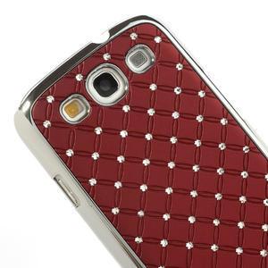 Drahokamové pouzdro pro Samsung Galaxy S3 i9300 - červené - 4