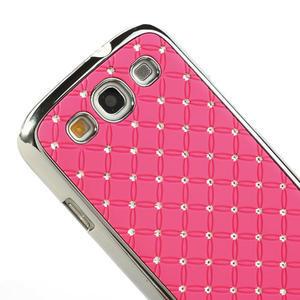 Drahokamové pouzdro pro Samsung Galaxy S3 i9300- světle-růžové - 4