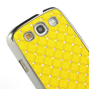 Drahokamové pouzdro pro Samsung Galaxy S3 i9300 - žlutá - 4