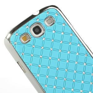 Drahokamové pouzdro pro Samsung Galaxy S3 i9300 - světlě-modré - 4
