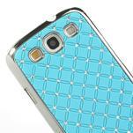 Drahokamové pouzdro pro Samsung Galaxy S3 i9300 - světlě-modré - 4/5
