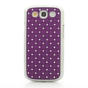 Drahokamové pouzdro pro Samsung Galaxy S3 i9300 - fialové - 4