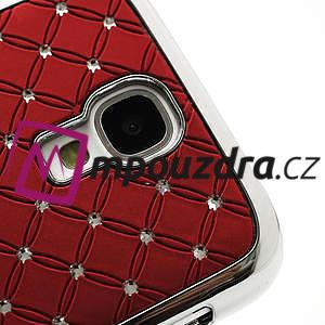 Drahokamové pouzdro pro Samsung Galaxy S4 i9500- červené - 4