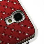 Drahokamové pouzdro pro Samsung Galaxy S4 i9500- červené - 4/7