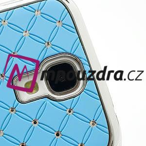 Drahokamové pouzdro pro Samsung Galaxy S4 i9500- světle-modré - 4