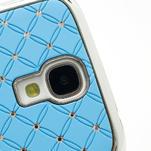 Drahokamové pouzdro pro Samsung Galaxy S4 i9500- světle-modré - 4/7
