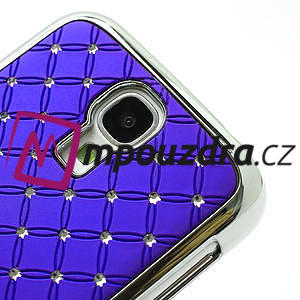 Drahokamové pouzdro pro Samsung Galaxy S4 i9500- modré - 4