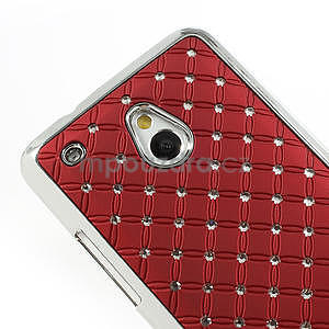 Drahokamové pouzdro pro HTC one Mini M4- červené - 4
