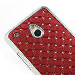 Drahokamové pouzdro pro HTC one Mini M4- červené - 4/5