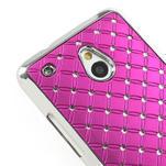 Drahokamové pouzdro pro HTC one Mini M4- růžové - 4/5
