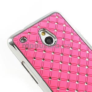 Drahokamové pouzdro pro HTC one Mini M4- světlerůžové - 4