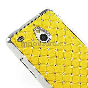 Drahokamové pouzdro pro HTC one Mini M4- žluté - 4