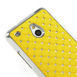 Drahokamové pouzdro pro HTC one Mini M4- žluté - 4/5