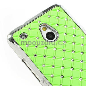 Drahokamové pouzdro pro HTC one Mini M4- zelené - 4