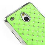Drahokamové pouzdro pro HTC one Mini M4- zelené - 4/5