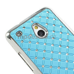 Drahokamové pouzdro pro HTC one Mini M4- světlemodré - 4