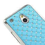 Drahokamové pouzdro pro HTC one Mini M4- světlemodré - 4/5