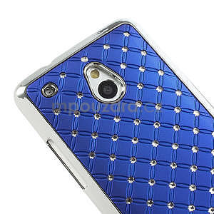 Drahokamové pouzdro pro HTC one Mini M4- modré - 4
