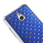 Drahokamové pouzdro pro HTC one Mini M4- modré - 4/5