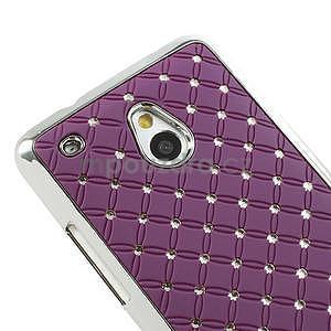 Drahokamové pouzdro pro HTC one Mini M4- fialové - 4