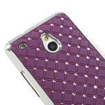 Drahokamové pouzdro pro HTC one Mini M4- fialové - 4/5