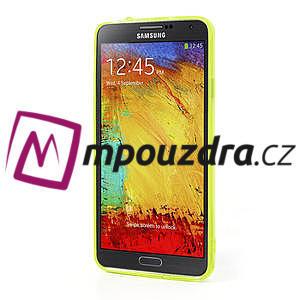 Gelové hybrid pouzdro na Samsung Galaxy Note 3- žluté - 4