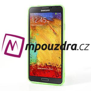Gelové hybrid pouzdro na Samsung Galaxy Note 3- zelené - 4