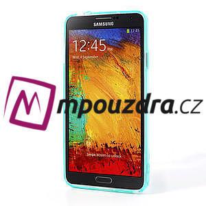 Gelové hybrid pouzdro na Samsung Galaxy Note 3- světlemodré - 4