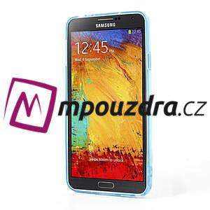 Gelové hybrid pouzdro na Samsung Galaxy Note 3- modré - 4