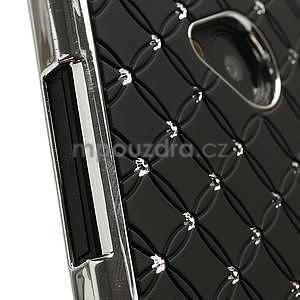 Drahokamové pouzdro pro HTC one M7- černé - 4