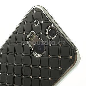 Drahokamové pouzdro pro HTC one M8- černé - 4