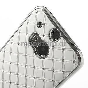 Drahokamové pouzdro pro HTC one M8- bílé - 4