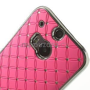 Drahokamové pouzdro pro HTC one M8- světlerůžové - 4