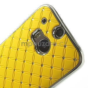 Drahokamové pouzdro pro HTC one M8- žluté - 4