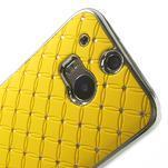 Drahokamové pouzdro pro HTC one M8- žluté - 4/6