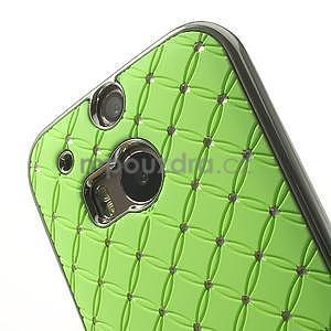 Drahokamové pouzdro pro HTC one M8- zelené - 4