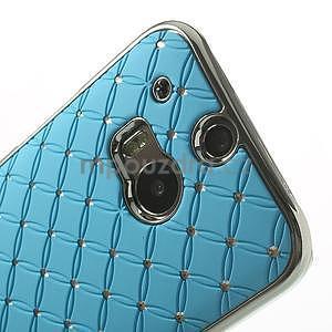 Drahokamové pouzdro pro HTC one M8- světlemodré - 4