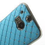 Drahokamové pouzdro pro HTC one M8- světlemodré - 4/6